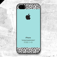 iPhone 5 case  Tiffany Teal and Kraft Leopard Pattern by evoncase