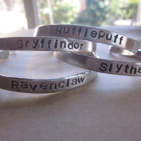 Harry Potter Hand Stamped Bracelets Pick by LaurenElaineDesigns