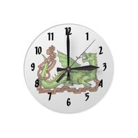 Celtic style dragon and rope.png round wallclock from Zazzle.com