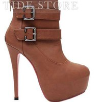New Arrival Platform  Stiletto Heel Closed Toe Ankle Women's Boots: tidestore.com