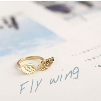 Fashion Angel wings Cocktail Ring at Online Cheap Fashion Jewelry Store Gofavor