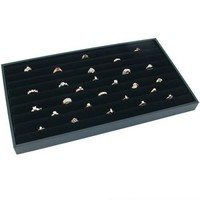 Jewelry Display Case Box 36 Ring Velvet Insert New