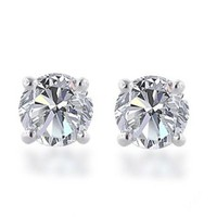 10k Gold Round-Cut Diamond Studs (1/2 cttw, J-K Color, I2-I3 Clarity)