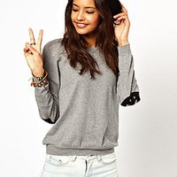ASOS Fashion Finder | ASOS Jumper With Peace Sign Elbow Patches