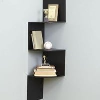 Amazon.com: Black Wall Corner Shelf Unit: Home &amp; Kitchen
