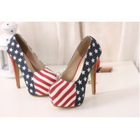 Wholesale European style thick heel platform heels XXD-FD999-22 jeans blue - Lovely Fashion