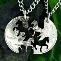 Horse Relationship Interlocking Quarter