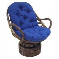 Blazing Needles 48 x 24 Swivel Rocker Cushion - Wicker Cushions at Hayneedle