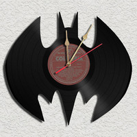 Batman Theme Vinyl Record Clock Upcycled Vinyl Records Great Gift