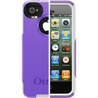 Amazon.com: Otterbox Commuter Series Hybrid Case for iPhone 4 & 4S  - Retail Packaging - Purple 10/White: Cell Phones & Accessories
