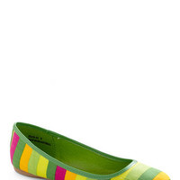 Are You Sherbet Flat in Lime | Mod Retro Vintage Flats | ModCloth.com