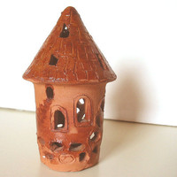 Candle Holder  FAIRY TALE TOWER by ElephantsCorner on Etsy