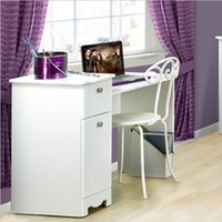 Nexera 310803 Dixie Student Desk Bedroom Vanity, White