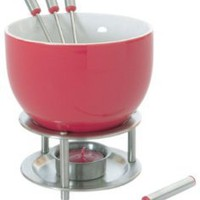 Amazon.com: Orka Chocolate Fondue Set, Red: Kitchen & Dining
