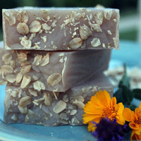Oatmeal Milk and Honey Soap  by SimplySelah on Etsy