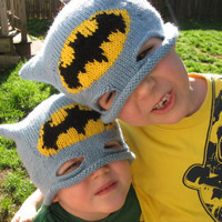 Batman Hat by 1BabyToes1 on Etsy