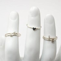 catbird::shop by category::Jewelry::Rings::Alphabet Rings - Silver