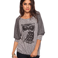 Burnout Owl Top | FOREVER21 - 2002928470