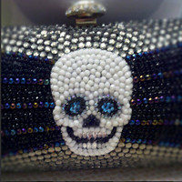 AWESOME handmade SKULL CLUTCH