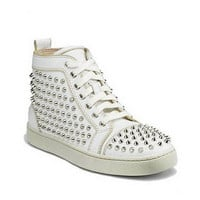 Christian Louboutin Louis Studded High-Top Sneakers White - $180.00