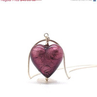 On Sale Purple Heart Necklace