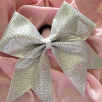 Cheer Bow / Full Rhinestone Mystic Bow by KrisKrossBows on Etsy