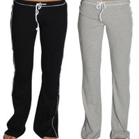 Amazon.com: Alki'i 2-Pack Junior Womens lounge/workout/gym/yoga pants: Clothing