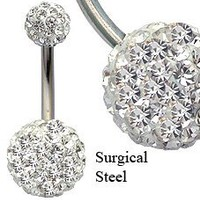 Crystal Belly Ring by GlitZ JewelZ © - it takes more than 105 crystals to make this BLING!! - treat