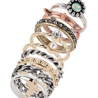 Multi stack ring of mix metal - Fashion Jewelry  - Accessories
