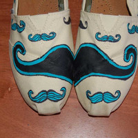 Quirky Mustache TOMS - customized in your colors, your shoe size