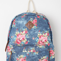Steve Madden Floral Acid Patch Backpack
