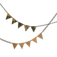Geometric Modern Triangle Recycled Necklace by ThePolkadotMagpie