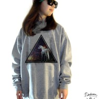 DADAWAN — Sweatshirt femme oversized Unicorn across the Universe