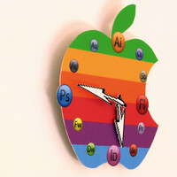 Apple Design Icon Wall Clock Gift