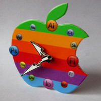 Apple Designer Icon Table Clock mini 