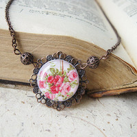 Rose Garden Short Necklace by smafactory on Etsy