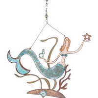 Sunset Vista Designs Meri Mermaid Decorative Spinner, 15-Inch Long