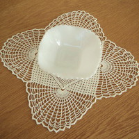 Scalloped White Milk Glass Candy Dish- from Smiling Cat Designs