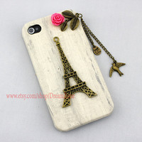 Eiffel TowerbirdIphone Case iPhone 4 Case iphone 4 by DreamZone