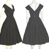 Vintage 50s Saks Fifth Ave Circle Skirt Dress