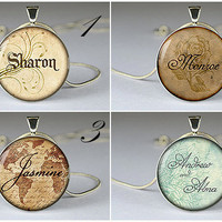 custom name pendant,custom name necklace pendant,name jewelry pendant,name resin pendant- Z09
