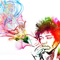 Jimi Hendrix Art Print by D77 The DigArtisT | Society6
