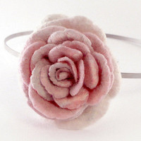 Pale pink rose headband by Roltinica on Etsy