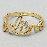 The &quot;Believe&quot; Ring in Gold