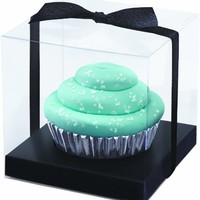 Wilton 415-0391 Black-Clear Cupcake Box Kit, 20 Count