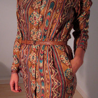 Silk Dress Vintage S Southwestern Sexy Secretary Boho Gypsy Hippie Mini Mod Hipster Urban Grunge Festival Wear