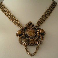 Door knocker,  Avant Garde, SteamPunk, Lolita Pendant necklace choker