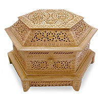 Wood jewelry box - Royal Coffer - NOVICA