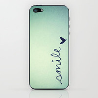 s  m  i  l  e  iPhone &amp; iPod Skin by Rubybirdie | Society6