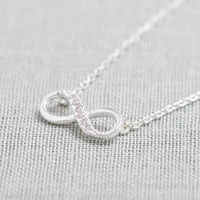 Tiny Infinity Necklace in Silver